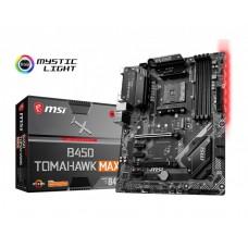 Mainboard|MSI|AMD B450|SAM4|ATX|3xPCI-Express 1x|2xPCI-Express 16x|1xM.2|Memory DDR4|Memory slots 4|1xDVI|1xHDMI|2xUSB 2.0|1xUSB type C|3xUSB 3.2|1xPS/2|1xRJ45|6xAudio port|B450TOMAHAWKMAX