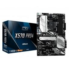 Mainboard|ASROCK|AMD X570|SAM4|ATX|2xPCI-Express 1x|2xPCI-Express 16x|1xM.2|Memory DDR4|Memory slots 4|1xHDMI|1xDisplayPort|1xUSB type C|7xUSB 3.2|1xPS/2|1xRJ45|3xAudio port|X570PRO4