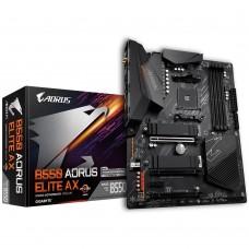 Mainboard|GIGABYTE|AMD B550|SAM4|ATX|2xPCI-Express 3.0 1x|1xPCI-Express 3.0 2x|2xM.2|1xPCI-Express 4.0 16x|Memory DDR4|Memory slots 4|1xHDMI|1xDisplayPort|2xAV-In|3xAV-out|2xUSB 2.0|6xUSB 3.2|1xOptical S/PDIF|1xRJ45|2xRF-Out|B550AORUSELITEAX