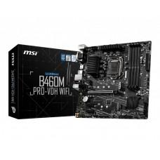 Mainboard|MSI|Intel B460 Express|LGA1200|MicroATX|2xPCI-Express 1x|1xPCI-Express 3.0 16x|2xM.2|Memory DDR4|Memory slots 4|1x15pin D-sub|1xDVI|1xHDMI|2xUSB 2.0|4xUSB 3.2|1xPS/2|1xRJ45|3xAudio port|B460MPRO-VDHWIFI