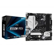 Mainboard|ASROCK|AMD B550|SAM4|MicroATX|1xPCI-Express 3.0 1x|1xPCI-Express 3.0 16x|1xM.2|1xPCI-Express 4.0 16x|Memory DDR4|Memory slots 4|1x15pin D-sub|1xHDMI|1xDisplayPort|2xUSB 2.0|1xUSB type C|5xUSB 3.2|1xPS/2|1xRJ45|3xAudio port|B550MPRO4