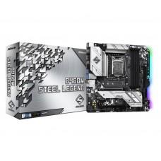 Mainboard|ASROCK|Intel B460 Express|LGA1200|MicroATX|1xPCI-Express 3.0 1x|2xPCI-Express 3.0 16x|1xM.2|Memory DDR4|Memory slots 4|1xHDMI|1xDisplayPort|2xAudio-In|3xAudio-Out|2xUSB 2.0|1xUSB type C|4xUSB 3.2|1xPS/2|1xOptical S/PDIF|1xRJ45|B460MSTEELLEGEND