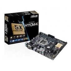 Mainboard|ASUS|Intel H110 Express|LGA1151|MicroATX|2xPCI-Express 2.0 1x|1xPCI-Express 3.0 16x|Memory DDR4|Memory slots 2|1x15pin D-sub|1xDVI|1xAudio-In|1xAudio-Out|1xMicrophone|4xUSB 2.0|2xUSB 3.1|2xPS/2|1xRJ45|H110M-K