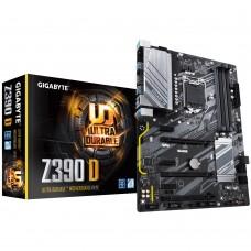 Mainboard|GIGABYTE|Intel Z390 Express|LGA1151|ATX|3xPCI-Express 1x|2xPCI-Express 4x|1xPCI-Express 16x|1xM.2|Memory DDR4|Memory slots 4|1xHDMI|6xUSB 3.1|2xPS/2|1xRJ45|3xAudio port|Z390D