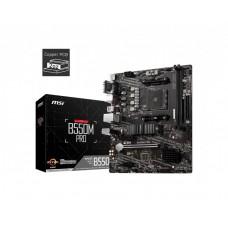 Mainboard|MSI|AMD B550|SAM4|MicroATX|2xPCI-Express 3.0 1x|1xPCI-Express 4.0 16x|1xM.2|Memory DDR4|Memory slots 2|1x15pin D-sub|1xHDMI|1xDisplayPort|2xVideo-In|1xVideo-Out|2xUSB 2.0|4xUSB 3.2|1xPS/2|1xRJ45|B550MPRO