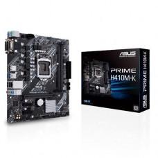 Mainboard|ASUS|Intel H410 Express|LGA1200|MicroATX|2xPCI-Express 3.0 1x|1xPCI-Express 3.0 16x|Memory DDR4|Memory slots 2|1x15pin D-sub|1xDVI|4xUSB 2.0|2xUSB 3.2|2xPS/2|3xAudio port|PRIMEH410M-K
