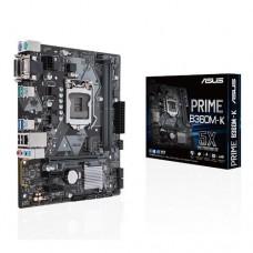 Mainboard|ASUS|Intel B360 Express|LGA1151|MicroATX|2xPCI-Express 3.0 1x|1xPCI-Express 3.0 16x|1xM.2|Memory DDR4|Memory slots 2|1x15pin D-sub|1xDVI|1xAudio-In|1xAudio-Out|1xMicrophone|2xUSB 2.0|4xUSB 3.1|2xPS/2|1xRJ45|PRIMEB360M-K