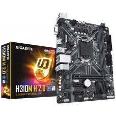 Mainboard|GIGABYTE|Intel H310 Express|LGA1151|MicroATX|2xPCI-Express 1x|1xPCI-Express 16x|Memory DDR4|Memory slots 2|1x15pin D-sub|1xHDMI|1xAudio-In|1xAudio-Out|1xMicrophone|4xUSB 2.0|2xUSB 3.1|1xPS/2|1xRJ45|H310MH2.0
