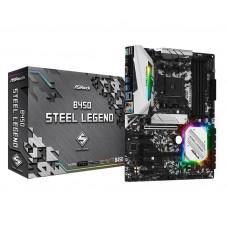 Mainboard|ASROCK|AMD B450|SAM4|ATX|4xPCI-Express 2.0 1x|2xPCI-Express 3.0 16x|2xM.2|Memory DDR4|Memory slots 2|1xHDMI|1xDisplayPort|2xUSB 2.0|5xUSB 3.1|1xUSB type C|1xPS/2|1xOptical S/PDIF|1xRJ45|5xAudio port|B450STEELLEGEND