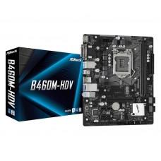 Mainboard|ASROCK|Intel B460 Express|LGA1200|MicroATX|2xPCI-Express 3.0 1x|1xPCI-Express 3.0 16x|1xM.2|Memory DDR4|Memory slots 2|1x15pin D-sub|1xDVI|1xHDMI|2xUSB 2.0|4xUSB 3.2|1xPS/2|1xRJ45|3xAudio port|B460M-HDV