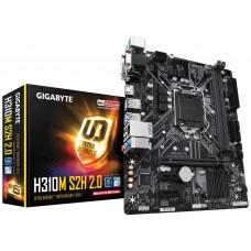 Mainboard|GIGABYTE|Intel H310 Express|LGA1151|MicroATX|2xPCI-Express 1x|1xPCI-Express 16x|1xM.2|Memory DDR4|Memory slots 2|1x15pin D-sub|1xDVI|1xHDMI|1xAudio-In|1xAudio-Out|1xMicrophone|4xUSB 2.0|2xUSB 3.1|2xPS/2|1xRJ45|H310MS2H2.0