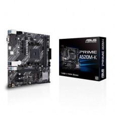 Mainboard|ASUS|AMD A520|SAM4|MicroATX|2xPCI-Express 3.0 1x|1xPCI-Express 3.0 16x|1xM.2|Memory DDR4|Memory slots 2|1x15pin D-sub|1xHDMI|2xUSB 2.0|4xUSB 3.2 type B|1xPS/2|3xStereo jack 3.5mm|1xRJ45|PRIMEA520M-K