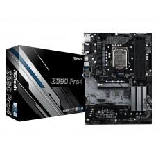 Mainboard|ASROCK|Intel Z390 Express|LGA1151|ATX|3xPCI-Express 3.0 1x|2xPCI-Express 3.0 16x|2xM.2|Memory DDR4|Memory slots 4|1x15pin D-sub|1xDVI|1xHDMI|2xUSB 2.0|3xUSB 3.1|1xUSB type C|1xPS/2|1xRJ45|3xAudio port|Z390PRO4
