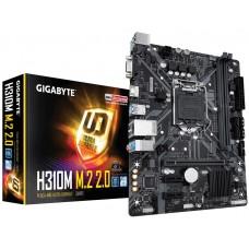 Mainboard|GIGABYTE|Intel H310 Express|LGA1151|MicroATX|2xPCI-Express 1x|1xPCI-Express 16x|1xM.2|Memory DDR4|Memory slots 2|1x15pin D-sub|1xHDMI|4xUSB 2.0|2xUSB 3.1|1xPS/2|1xRJ45|3xAudio port|H310MM.2V2.0