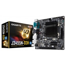 Mainboard GIGABYTE MiniITX 1xPCI Memory DDR3L Memory slots 2 1x15pin D-sub 1xHDMI 1xAudio-In 1xAudio-Out 1xMicrophone 2xUSB 2.0 2xUSB 3.1 2xCOM 2xPS/2 2xRJ45 Built-in CPU model Celeron J3455 GA-J3455N-D3H