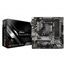 Mainboard|ASROCK|AMD B450|SAM4|MicroATX|1xPCI-Express 2.0 1x|2xPCI-Express 2.0 16x|2xPCI-Express 3.0 16x|2xM.2|Memory DDR4|Memory slots 4|1x15pin D-sub|1xDVI|1xHDMI|1xAudio-In|1xAudio-Out|1xMicrophone|2xUSB 2.0|5xUSB 3.1|1xUSB type C|1xPS/2|1xRJ45|B450MPR