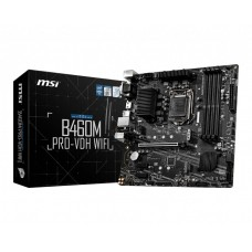 Mainboard MSI Intel B460 Express LGA1200 MicroATX 2xPCI-Express 3.0 1x 1xPCI-Express 3.0 16x 2xM.2 Memory DDR4 Memory slots 4 1x15pin D-sub 1xDVI 1xHDMI 2xAudio-In 1xAudio-Out 2xUSB 2.0 4xUSB 3.2 1xPS/2 1xRJ45 2xRF-Out B460MPRO-VDH