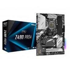 Mainboard ASROCK Intel Z490 Express LGA1200 ATX 3xPCI-Express 3.0 1x 2xPCI-Express 3.0 16x 2xM.2 Memory DDR4 Memory slots 4 1x15pin D-sub 1xHDMI 2xUSB 2.0 1xUSB type C 3xUSB 3.2 1xPS/2 1xRJ45 3xAudio port Z490PRO4