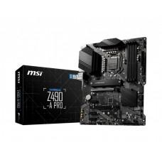 Mainboard MSI Intel Z490 Express LGA1200 ATX 3xPCI-Express 1x 2xPCI-Express 3.0 16x 2xM.2 Memory DDR4 Memory slots 4 1xHDMI 1xDisplayPort 2xUSB 2.0 1xUSB type C 3xUSB 3.2 1xPS/2 1xRJ45 6xAudio port Z490-APRO