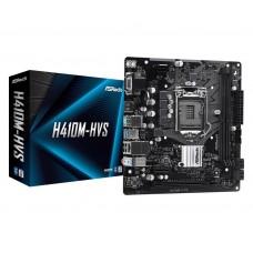 Mainboard|ASROCK|Intel H410 Express|LGA1200|MicroATX|1xPCI-Express 3.0 1x|1xPCI-Express 3.0 16x|Memory DDR4|Memory slots 2|1x15pin D-sub|1xHDMI|4xUSB 2.0|2xUSB 3.2|1xPS/2|1xRJ45|3xAudio port|H410M-HVS