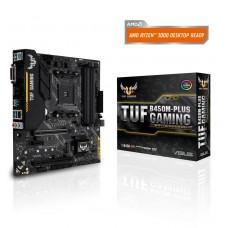 Mainboard|ASUS|AMD B450|SAM4|MicroATX|1xPCI-Express 2.0 1x|1xPCI-Express 3.0 16x|1xM.2|Memory DDR4|Memory slots 4|1xDVI|1xHDMI|2xUSB 2.0|3xUSB 3.1|1xUSB type C|1xPS/2|1xRJ45|3xAudio port|TUFB450M-PLUSGAMING