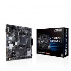 Mainboard|ASUS|AMD B450|SAM4|MicroATX|2xPCI-Express 2.0 1x|1xPCI-Express 3.0 16x|1xM.2|Memory DDR4|Memory slots 2|1x15pin D-sub|1xDVI|1xHDMI|2xAudio-In|1xAudio-Out|2xUSB 2.0|4xUSB 3.2|1xPS/2|1xRJ45|PRIMEB450M-KII