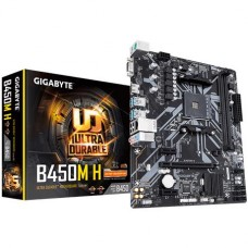 Mainboard|GIGABYTE|AMD B450|SAM4|MicroATX|2xPCI-Express 1x|1xPCI-Express 16x|1xM.2|Memory DDR4|Memory slots 2|1x15pin D-sub|1xHDMI|2xUSB 2.0|4xUSB 3.1|2xPS/2|1xRJ45|3xAudio port|B450MH