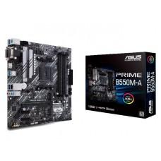 Mainboard|ASUS|AMD B550|SAM4|MicroATX|2xPCI-Express 3.0 1x|2xM.2|1xPCI-Express 4.0 16x|Memory DDR4|Memory slots 4|1x15pin D-sub|1xDVI|1xHDMI|6xUSB 3.2|1xPS/2|1xRJ45|3xAudio port|PRIMEB550M-A