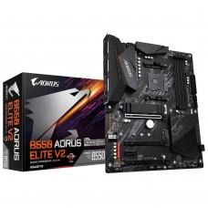 Mainboard|GIGABYTE|AMD B550|SAM4|ATX|2xPCI-Express 3.0 1x|2xM.2|1xPCI-Express 4.0 16x|Memory DDR4|Memory slots 4|1xHDMI|1xDisplayPort|2xAudio-In|3xAudio-Out|2xUSB 2.0|5xUSB 3.2|1xOptical S/PDIF|1xRJ45|B550AORUSELITEV2