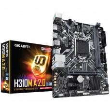 Mainboard|GIGABYTE|Intel H310 Express|LGA1151|MicroATX|2xPCI-Express 1x|1xPCI-Express 16x|1xM.2|Memory DDR4|Memory slots 2|1xHDMI|1xDisplayPort|4xUSB 2.0|1xUSB 3.1|1xUSB type C|2xPS/2|1xRJ45|3xAudio port|H310MA2.0
