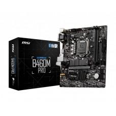 Mainboard|MSI|Intel B460 Express|LGA1200|MicroATX|2xPCI-Express 3.0 1x|1xPCI-Express 3.0 16x|1xM.2|Memory DDR4|Memory slots 2|1x15pin D-sub|1xDVI|1xHDMI|2xAudio-In|1xAudio-Out|2xUSB 2.0|4xUSB 3.2|1xPS/2|1xRJ45|B460MPRO