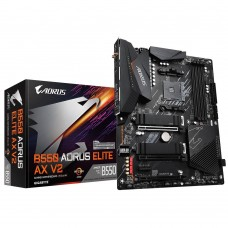 Mainboard|GIGABYTE|AMD B550|SAM4|ATX|2xPCI-Express 3.0 1x|1xPCI-Express 3.0 2x|1xPCI-Express 4.0 16x|2xM.2|Memory DDR4|Memory slots 4|1xHDMI|1xDisplayPort|2xAudio-In|3xAudio-Out|2xUSB 2.0|5xUSB 3.2|1xOptical S/PDIF|1xRJ45|2xRF-Out|B550AORUSELITEAXV2